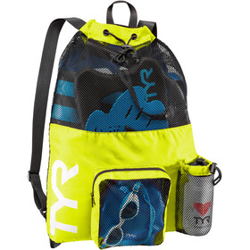 TYR Big Mesh Mummy Swim Backpack yellow/black
